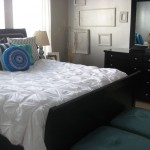 Duvet vs Comforter  Transitional Bedroom with Nailhead Trim