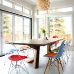 Eames Chair Replica  Contemporary Dining Room with Eames Dining Chair
