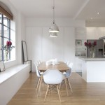Eames Chair Replica  Contemporary Kitchen with Bench Seat