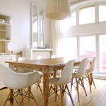 Eames Chair Replica  Eclectic Dining Room with Bright and Airy Dining Room
