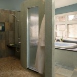Epoxy Grout  Contemporary Bathroom with Shower Room