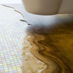 Epoxy Grout  Contemporary Bathroom with Wood