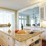 Giallo Ornamental  Traditional Kitchen with Recessed Lighting