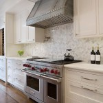 Herringbone Backsplash  Traditional Kitchen with Bar Pulls