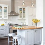 Herringbone Backsplash  Traditional Kitchen with Framed Cabinetry
