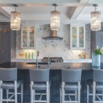 Herringbone Backsplash  Transitional Kitchen with White Quartz Counter Top