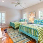 Jenny Lind Bed  Beach Style Bedroom with Colorful Bedroom