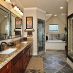 Kilim Beige  Transitional Bathroom with Walk in Shower