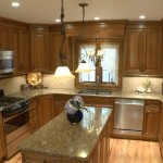Luna Pearl Granite  Mediterranean Kitchen with Kitchen Window