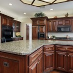 Luna Pearl Granite  Traditional Kitchen with Kitchen Coutertop