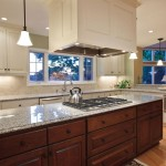 Luna Pearl Granite  Traditional Kitchen with Under Cabinet Lighting