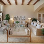 Masland Carpet  Traditional Living Room with Exposed Beams