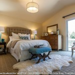 Masland Carpet  Transitional Bedroom with Blue Lamps