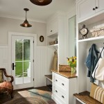 Mudroom Lockers  Farmhouse Entry with Timber Frame