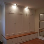 Mudroom Lockers  Traditional Closet with Mudroom with Lockers and Bench