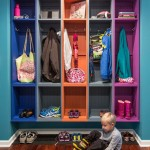 Mudroom Lockers  Traditional Entry with Colorful
