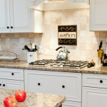 New Venetian Gold Granite  Traditional Kitchen with Granite Counters
