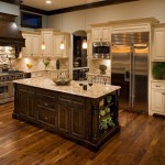 New Venetian Gold Granite  Traditional Kitchen with Kitchen Island