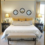 Quatrefoil Mirror  Traditional Bedroom with Decorative Pillows