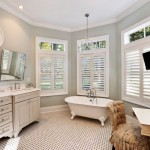Sherwin Williams Sea Salt  Beach Style Bathroom with Baseboards