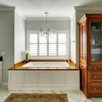 Sherwin Williams Sea Salt  Traditional Bathroom with Wood Paneling