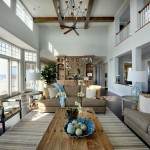Sherwin Williams Sea Salt  Traditional Living Room with Light Blue Walls