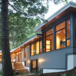 Shiplap Siding  Contemporary Exterior with Terrace