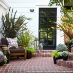 Shiplap Siding  Traditional Patio with Garden Stool