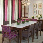 Sputnik Chandelier  Contemporary Dining Room with Buffet