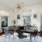 Sputnik Chandelier  Midcentury Dining Room with Mid Century
