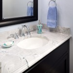 Super White Quartzite  Modern Bathroom with Super White Quartzite