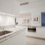 Super White Quartzite  Scandinavian Kitchen with White Kitchen