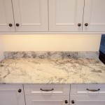 Super White Quartzite  Traditional Kitchen with Super White Quartzite