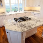 Super White Quartzite  Traditional Kitchen with White Sink