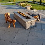 Techo Bloc  Traditional Patio with Firepit