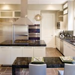 Ubatuba Granite  Contemporary Kitchen with Frosted Glass