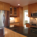 Ubatuba Granite  Contemporary Kitchen with Square Edge