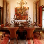 Wine Barrel Chandelier  Eclectic Dining Room with Nalhead Trim