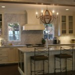 Wine Barrel Chandelier  Mediterranean Kitchen with Iron Chandelier